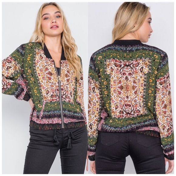 Jill Marie Boutique Jackets & Blazers - Fall Floral bomber jacket S, M or L NWT